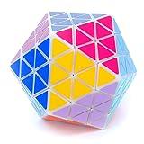 MF8 Oskar's Icosaix White Icosahedron Face Turning Cube Puzzle 20 Sided Toy