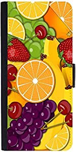 Snoogg Fruity 2428 Designer Protective Phone Flip Case Cover For Redmi 2 Prime
