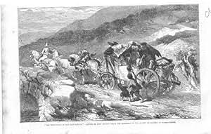 Impresión Antigua del Arte Victoriano, Coche de la Etapa De Gilbert