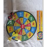 Rinco 78226 Velcro Dartboard Game Includes 2 Darts And 2 Balls Colors May Vary