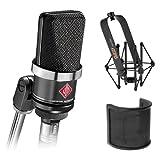 Neumann TLM-102 Large Diaphragm Studio Condenser Microphone (Black) with Suspension Shockmount & Pop Filter (Tamaño: Bluetooth Headphones-2_modelEar621)