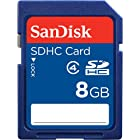 SanDisk 8 GB Class 2 SDHC Flash Memory Card SDSDB-8192-A11 (Retail Packaging)