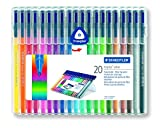 Staedtler Triplus Colour 323 SB20 Fibre-Tip Pen Desktop Box - Assorted Colours (Pack of 20)