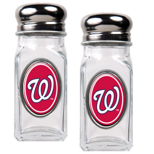 MLB Washington Nationals Salt and Pepper Shaker Set with Crystal Coat