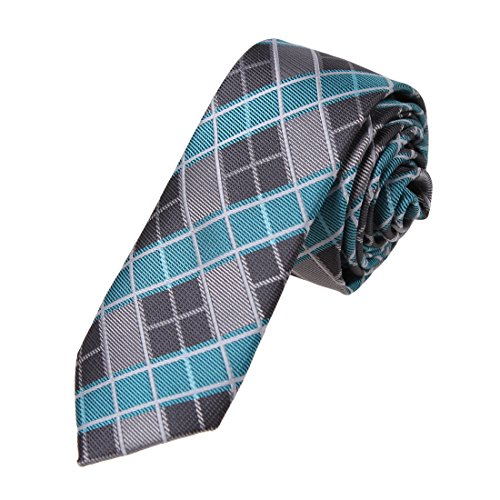 DAE7C01-Fashion-Checkered-Microfiber-Skinny-Tie-Gift-For-Holy-Saturday-By-Dan-Smith