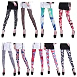 HDE Womens Pattern Leggings Cotton Stretch Pants - Many Designs