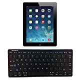 REBELITE Plug & Play Thin Customizable Full Size Bluetooth Keyboard - BLACK
