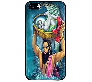 Fuson Premium Sri Krishna Metal Printed with Hard Plastic Back Case Cover for Apple iPhone SE
