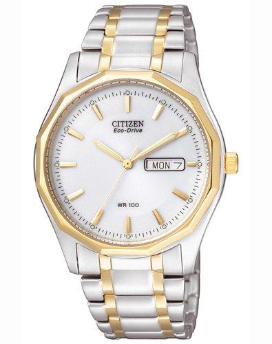 Citizen Herren-Armbanduhr Analog Quarz Edelstahl beschichtet BM8434-58AE