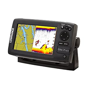 Lowrance Elite-7 000-10968-001 7-Inch Color Plotter,Sounder with Basemap and 83 200... by Lowrance