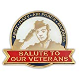 Salute To Our Veterans Patriotic Lapel Pin