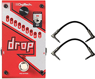 Digitech DROP Compact Polyphonic Drop Tune Pitch-Shifter w/ Power Supply and 2 Patch Cables by Digitech