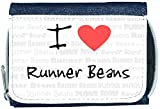I Love Heart Runner Beans Denim Wallet