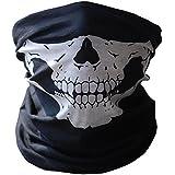 Crâne poussière protection tubulaire masque Bandana moto Polyester écharpe visage Neck Warmer