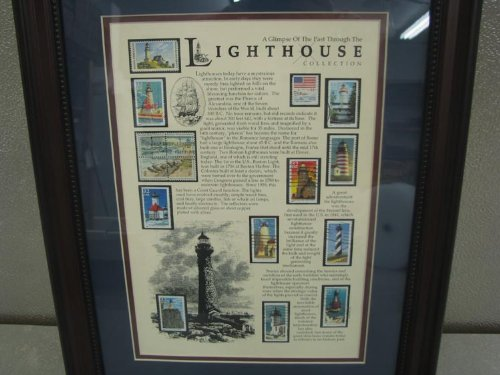 American Stamp Collectibles Jr1804 12x16 Lighthouse
