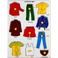 Little Genius Clothes - Boy With Knob, Multi Color