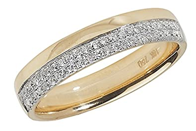 Diamond Wedding Ring Micro Set 18ct Yellow Gold 0.20ct
