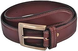 Ox Seven Men's Buckle Belt (AS002, Brown)