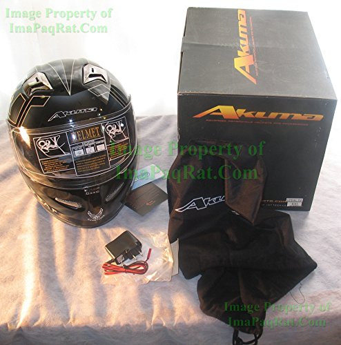 Xxl Akuma Stealth Motorcycle Helmet With Built In Led Lights! Usaf Logo