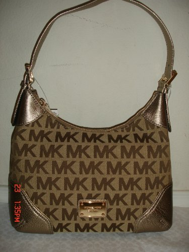 Michael Kors Millbrook Medium Shoulder Bag BG/EB/BRONZE