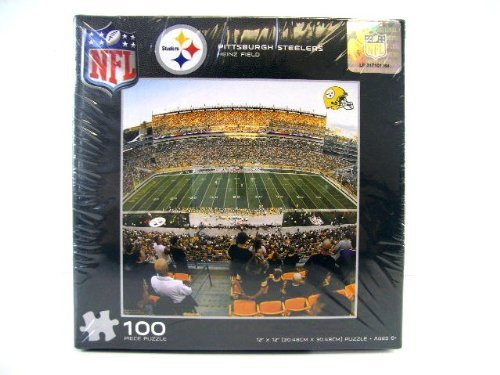 NFL Steelers Puzzle 100pc - NFL Steelers Kids Puzzle - Steelers Puzzle Game - Stealers Art - 1