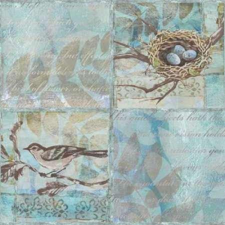 Feelingathome- imprimer-sur-toile-100%coton-Florentine-Songbird-II-cm77x77-affiche-reproduction-gravure-