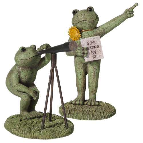 Grasslands Road Stargazer Frog Figurines, 6-Inch, Set Of 2, Gift Boxed