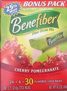 Benefiber Fiber Drink Mix, Cherry Pomegranate, Stick Packs, Bonus Pack