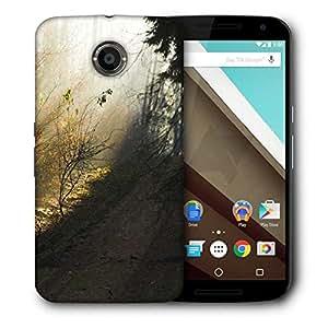Snoogg Dark Forest Designer Protective Phone Back Case Cover For Motorola Nexus 6