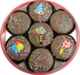 Milk Chocolate Dipped Oreos Decorated with a Birthday Theme7 Oreo Assortment