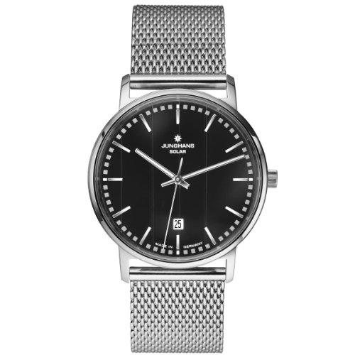 Junghans - 014/4061.44 - Montre Homme - Quartz Analogique - Solaire - Bracelet Acier Inoxydable Argent