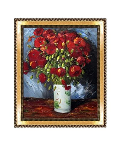 Vincent Van Gogh Vase With Red Poppies, 1886 Hand-Painted Reproduction