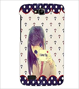 PrintDhaba I Love You Girl D-1104 Back Case Cover for HUAWEI HONOR HOLLY (Multi-Coloured)