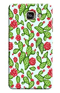Blue Throat Green And Red Flower Pattern Hard Plastic Printed Back Cover/Case For Samsung Galaxy A7 2016