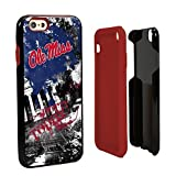 NCAA Mississippi Old Miss Rebels Paulson Designs Spirit Hybrid Case for iPhone 6, One 6, Black