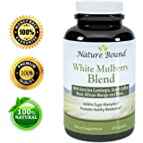 Pure White Mulberry Leaf Extract with 500mg As Doctors Recommend (Best Formula), with Garcinia, Green Coffee Bean + African Mango Blend - Inhibits Sugar Absorption and Promotes Healthy Metabolism - Most Potent Diet Supplement - Fully Guaranteed By Nature Bound