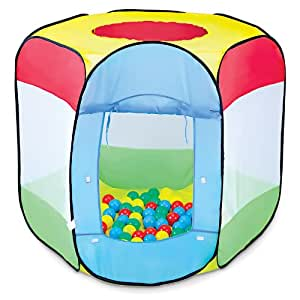 Piscina de bolas 100 bolas incluidas 90 x 90 x 97 cm for Piscina de bolas amazon