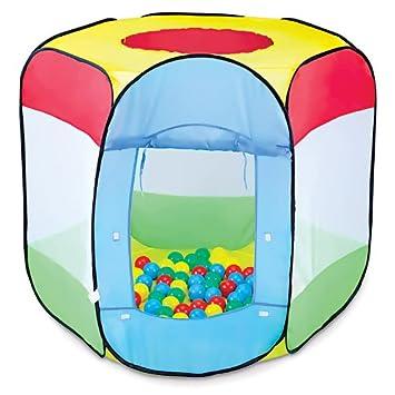Knorrtoys Com 55305 Tenda A 4 Lati Con 100 Palline.Tenda Per I Bambini Con 100 Palline Colorate 90 X 90 X 97 Cm