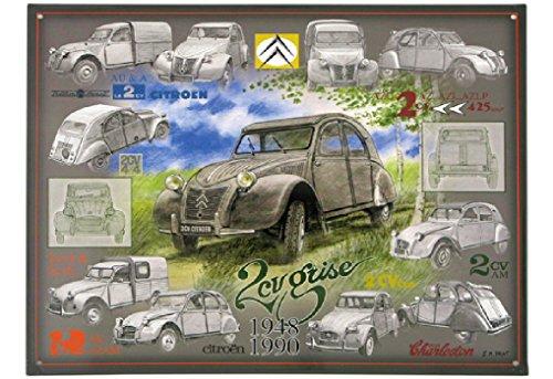 francia-vintage-placa-metal-40x32cm-citroen-2cv-todos-modelados-de-1948-hasta-1990