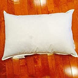 25/75 Down Feather Pillow Form - 10 x 19