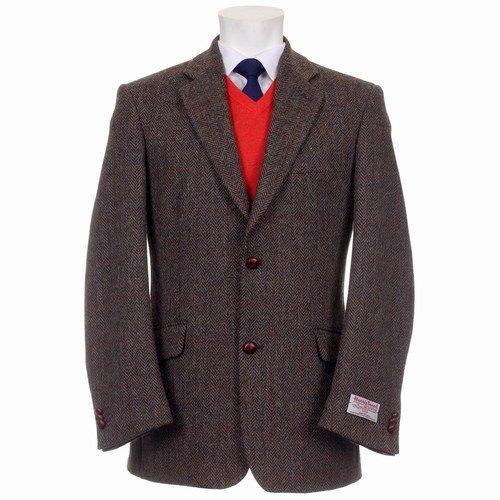 Mens Finlay Harris Tweed Jacket with Harris Tweed Certified Linings Slim Fit