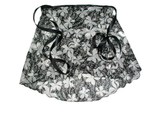 Black & White Floral Sparkle Wrap Ballet Skirt w/matching Hair Scrunchie S/M Adult/ Large child - Buy Black & White Floral Sparkle Wrap Ballet Skirt w/matching Hair Scrunchie S/M Adult/ Large child - Purchase Black & White Floral Sparkle Wrap Ballet Skirt w/matching Hair Scrunchie S/M Adult/ Large child (Sheer Delights Dancewear, Sheer Delights Dancewear Skirts, Sheer Delights Dancewear Womens Skirts, Apparel, Departments, Women, Skirts, Womens Skirts, Wrap, Wrap Skirts, Womens Wrap Skirts)