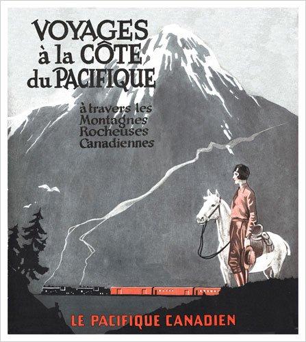 Les Montagnes Rocheuses Canadienne - (Canadian Pacific) Vintage Art Poster Print
