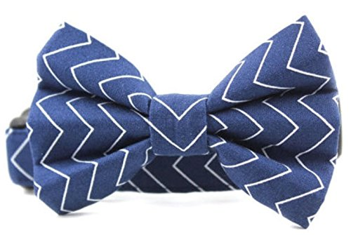 Collar Bow Tie Set Pinstripe in Navy