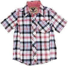 American Heritage Little Boys39 Plaid Short Sleeve Dress Shirt