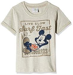 Fox Baby Boys' T-Shirt  (Stone Melange_18-24 months_327575)