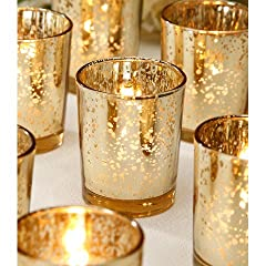 Wedding Decoration Votive Candle Holder in Gold - SOLD BY DOZEN - 2.25