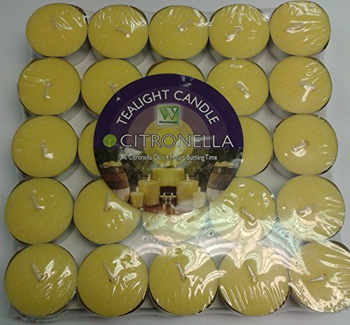 forestfox Westwoods Citronella Tealight Candles 50pk. 4 Hours Burning Time. Fragrant. New.