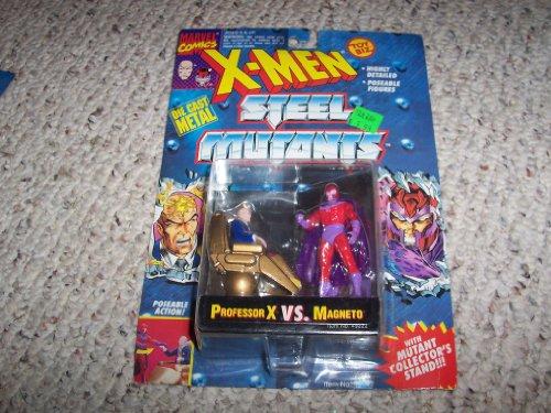 """Imagen de 3 """"Die Cast Profesor X VS Magneto Figuras de Acción - Marvel Comics. X-Men mutantes de acero con tarjeta de coleccionista mutante"""
