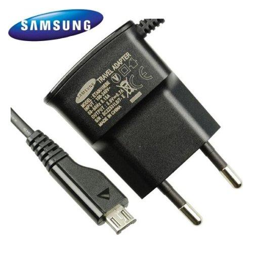 Samsung - Caricabatteria a corrente per Samsung Galaxy S/S2/S3/SL/S Plus/S Pro/S Advance, 220 V, colore: nero